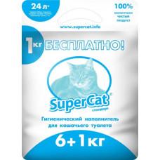 Гигиенический наполнитель Super Cat Стандарт 6 + 1кг, синий (5995)