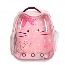 Рюкзак-переноска для кошек Taotaopets 256604 Panoramic Cats 34×28×40 cm Pink