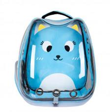 Рюкзак-переноска для кошек Taotaopets 256604 Panoramic Cats 34×28×40 cm Blue