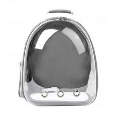Рюкзак-переноска для кошек Taotaopets 253304 Panoramic 35×25×42cm Серый (5535-18242)