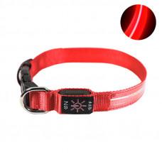 LED ошейник светодиодный Friend CR2032 Красный M (6585-21444)