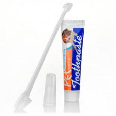 Зубная паста Hoopet Q0214 для животных + зубные щетки 85g (6398-21990)