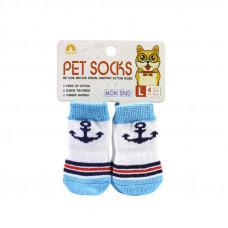 Антискользящие носки для собак Taotaopets 331 Белый L (6218-20741)