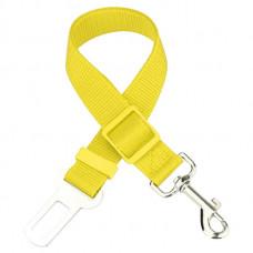 Автомобильный ремень безопасности для собаки GoodTrip 43-72 см Yellow (HbP050620)