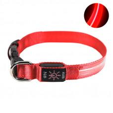 LED ошейник светодиодный Friend CR2032 Красный L (6585-21443)