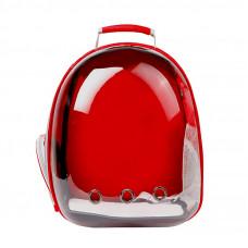Рюкзак-переноска для кошек Taotaopets 253304 Panoramic Красный (5535-18244)
