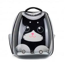 Рюкзак-переноска для кошек Taotaopets 256604 Panoramic Cats 34×28×40 cm Black