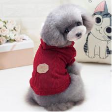 Кофта для собак с капюшоном Dog Baby EST.1978 Красный S (6221-20760)