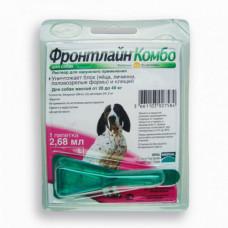 Капли Boehringer Ingelheim Фронтлайн Комбо от блох и клещей для собак, L, 20-40 кг