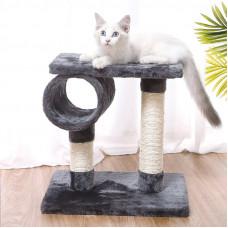 Когтеточка для кота с полками Taotaopets 046610 Серый (6282-21196)