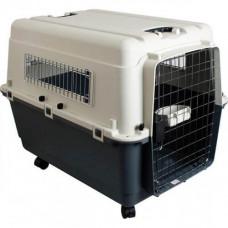 Переноска для собак Flamingo Nomad Aviation Carrier IATA замок XXL 100x70x75 см бело-черная