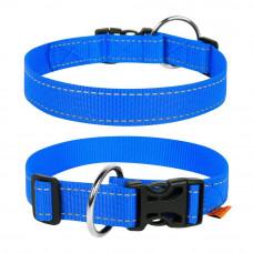 Ошейник-20 нейлон регул Dog Extremе ш20мм, 25-40см, голубой