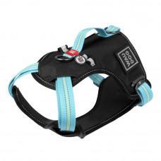 Шлея WAUDOG Nylon безопасная, металлическая пряжка-фастекс (ширина 20 мм, размер M, A:45-70 см, B:60, голубой