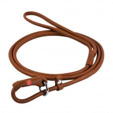 Поводок-удавка WAUDOG SOFT круглый (д. 6мм, дл. 135см), коричневый