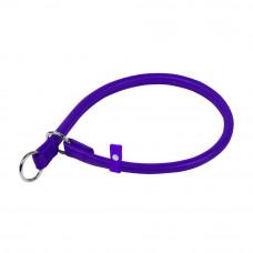 Ошейник-удавка рывковый WAUDOG GLAMOUR (д. 13мм, дл. 60 см), фиолетовый