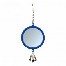 Зеркало с колокольчиком пластик. д/клеток 7,5см