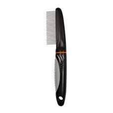Расчёска Trixie с пластиковой ручкой и частыми средними зубьями 22 см
