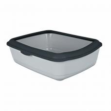 Туалет д/кот. с рамкой 37*15*47 светло-серый/темно-серый