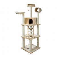 Дряпка Trixie для кошек Montilla из сизаля / плюшевая бежевая 60 * 60 * 197см
