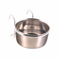 Миска металлическая Trixie с крепежом 300 мл / 9 см