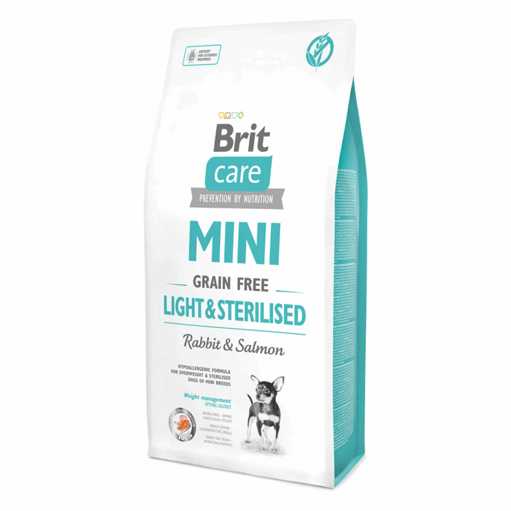 Brit Care GF Mini Light&Sterilised 7 kg (д/собак малых пород) контроль веса