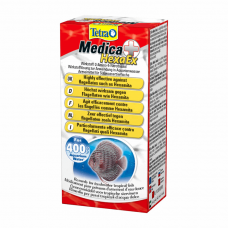 Препарат для лечения рыб Tetra «Medica HexaEx» 20 мл для борьбы с эндопаразитами («дырочная болезнь») на 400л.