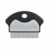 Расческа а/бл. метал. густой зуб
