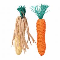 Игрушка д/грыз. Морковь+кукуруза сизаль 15см