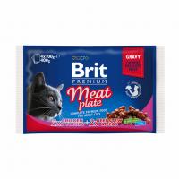 Brit Premium Cat Набор паучей 4шт х 100g мясная тарелка