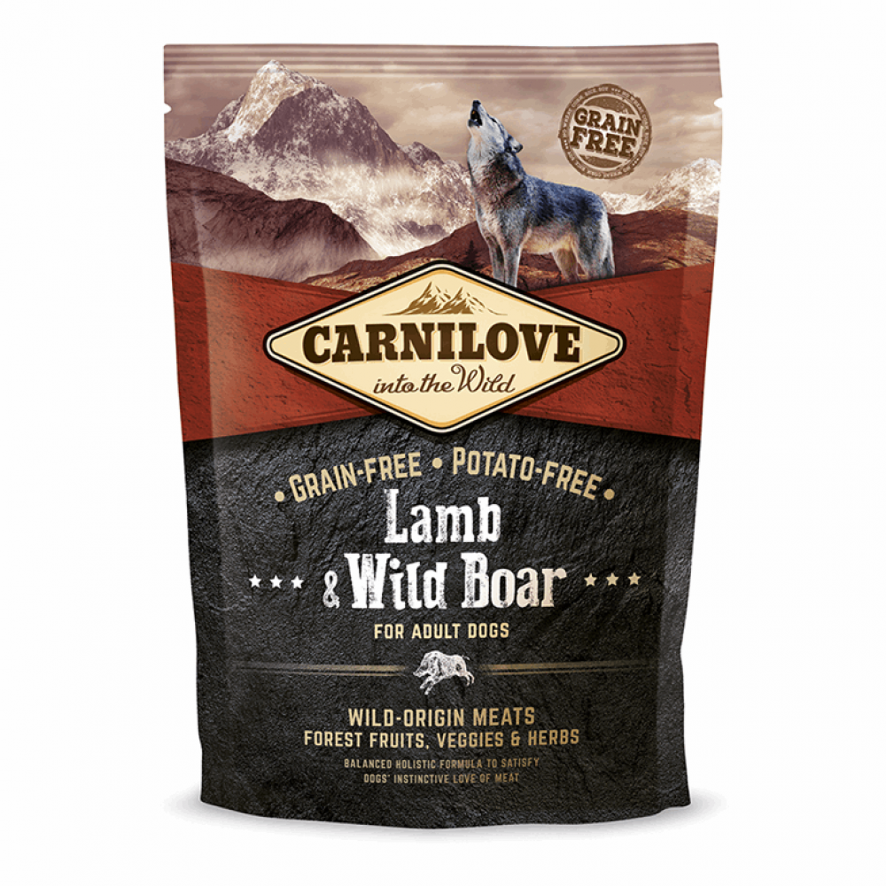 Carnilove Adult Lamb & Wild Boar 1,5 kg (д/взрослых собак с ягненком и диким кабаном)