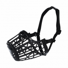 Намордник Trixie пластиковый L-XL 36 см (чёрный)