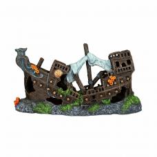 Декор. Разбитый корабль 23см