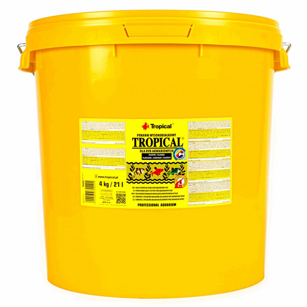 Tropical 21L /4kg (хлопья) корм с выс.содерж.белка