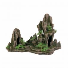 Декор. Скала с пещерой и раст. 45*22*28см