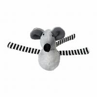 Мышь-неваляшка меховая серая 8см, 1шт