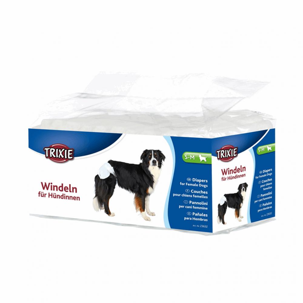 Памперсы для собак S-M (12шт)