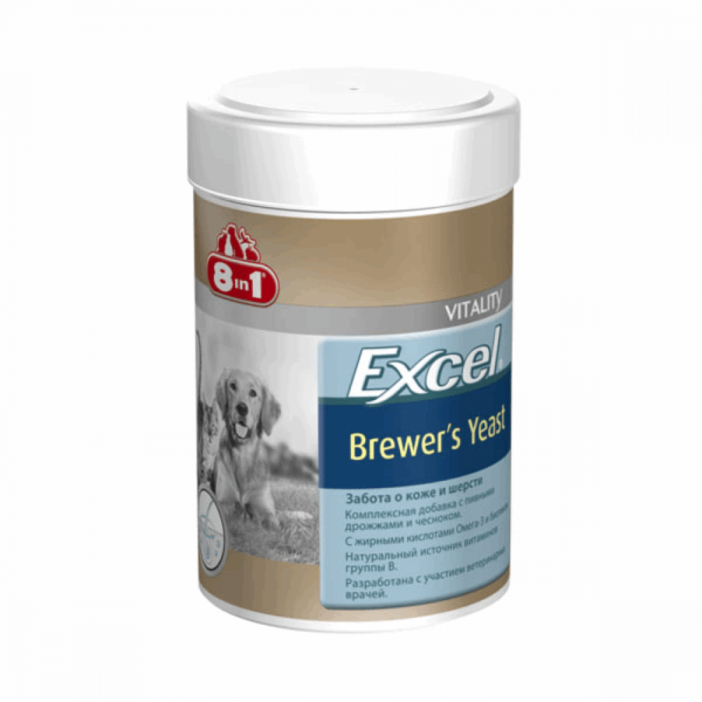 Excel Brewers Yeast д/соб. и котов 1430таб 8in1