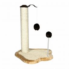 Дряпка-столбик с мех. шариком 50см бежевая/коричневая
