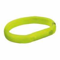 Ошейник светящийся с USB силикон зеленый M-L 50cм/18мм