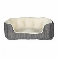 Лежак Davin 50*40см серый в полоску/кремовый