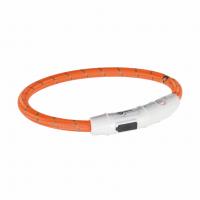 Ошейник светящийся с USB оранжевый M-L 45cм/7мм
