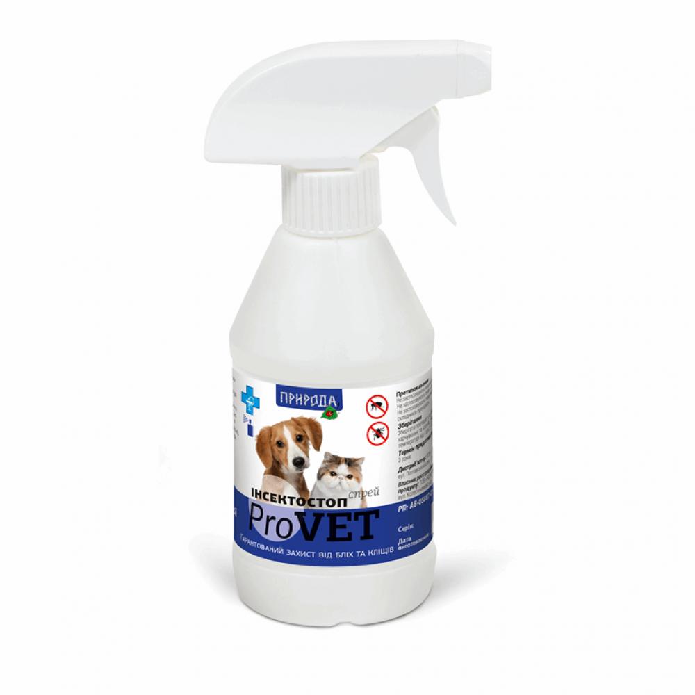 Инсектостоп ProVET спрей а/б 250мл (д/взр.собак и кошек)