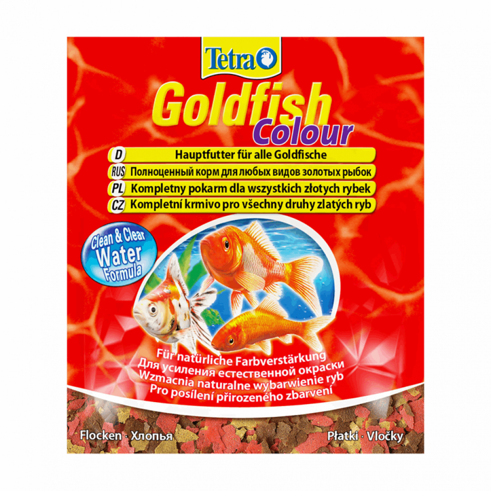 Tetra Gold fish COLOUR 12гр хлопья для улучшения окраски