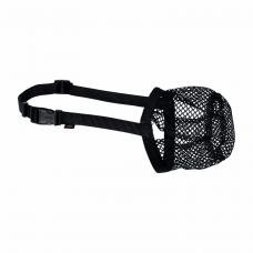Намордник Trixie полиэстеровый сетчатый S-M 22 см / 18-40 см (чёрный)