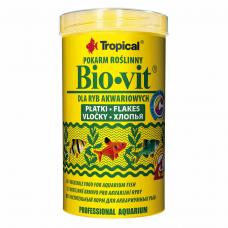 Bio-vit 500ml /100g (хлопья)растит. корм для всех видов рыб