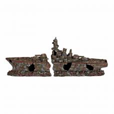 Декор. Разбитый корабль 70см