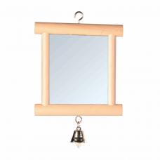 Зеркало с колок. дерев. 9*10см