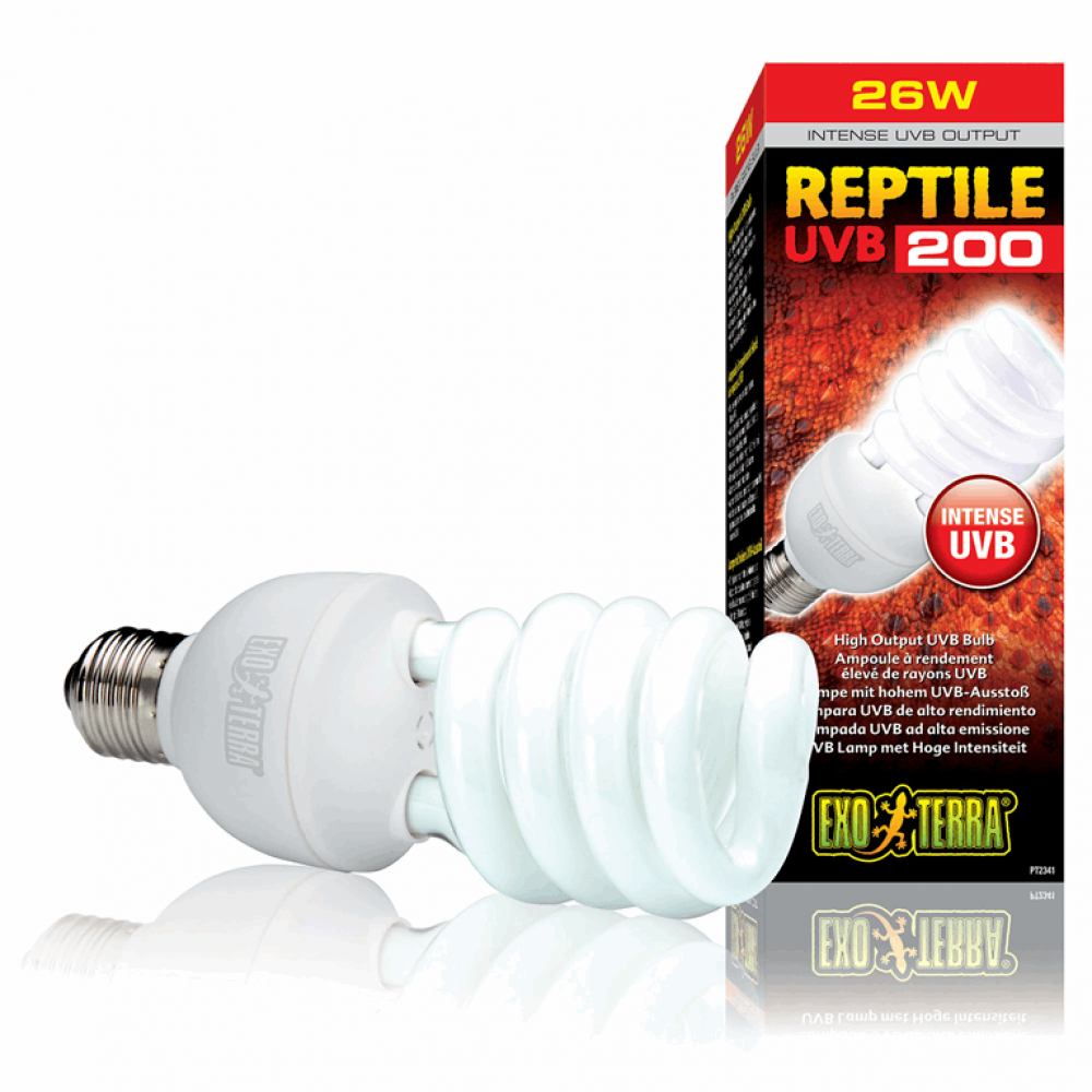 Лампа REPTILE UVB 200/26W E27
