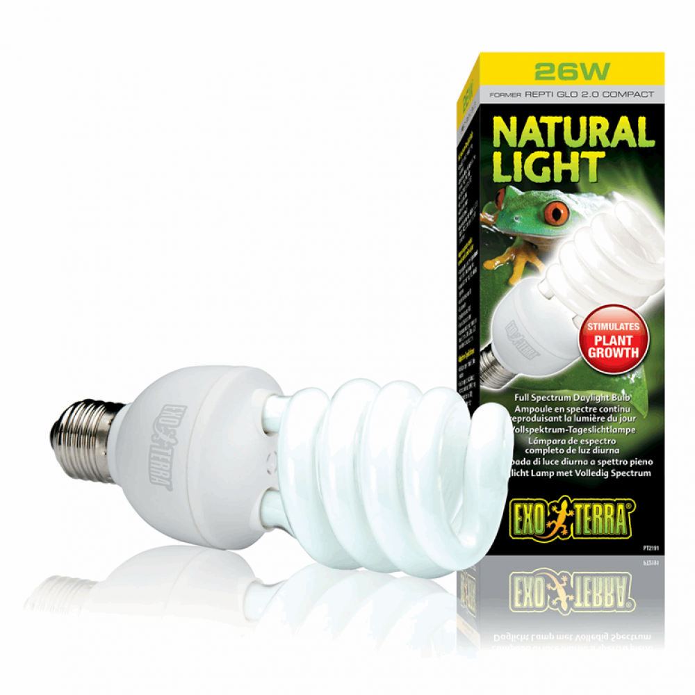 Лампа REPTI GLO 2.0/26W=Natural Light Е27