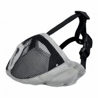 Намордник для брахицефалов,тканевый, S-М: 40 см, серый
